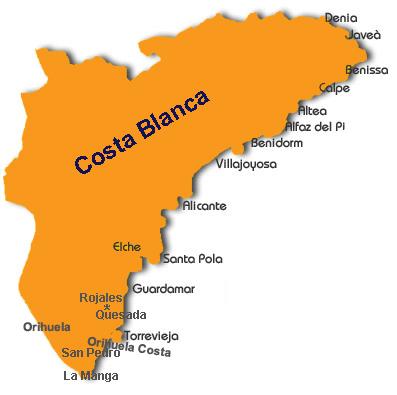 kart over torrevieja spania Spania   utleie   utleiehus   bolig   sommerbolig   Costa Blanca  kart over torrevieja spania